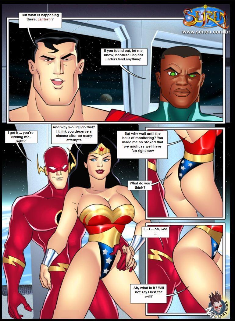 Justice league comic porn